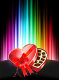 Chocolates on Abstract Spectrum Background