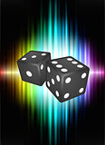 Dice on Abstract Spectrum Background