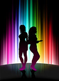 Fun Party on Abstract Spectrum Background