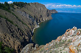 Coastal cliffs. Lake Baikal, Russia.