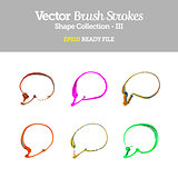 Vector Brush Strokes Speech Bubble Collection EPS10 Ready File