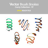 Vector Brush Strokes Wavy Collection EPS10 Ready File