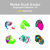 Vector Colorful Fingerprint Collection EPS10 Ready File