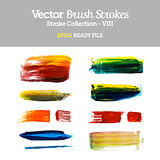 Vector Brush Strokes Collection EPS10 Ready File