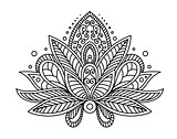 Persian or turkish paisley flower