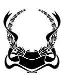 Heraldic laurel wreath
