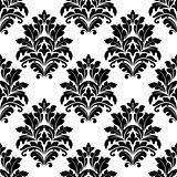Damask seamless pattern with floral motifs