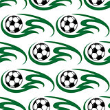 Soccer ball seamless pattern
