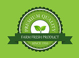 Farm fresh product label