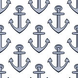 Seamless background pattern of ships anchors