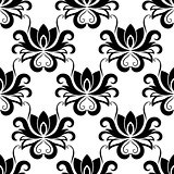 Dainty floral seamless pattern with bold flowers