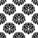 Floral seamless arabesque damask pattern