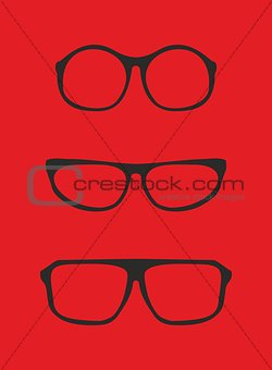 Black nerd glasses for professor or secretary