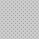 Seamless black and grey vector pattern or tile background with polka dots.