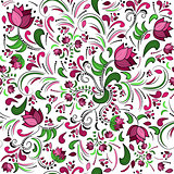 floral seamless pattern, vector design art illustration