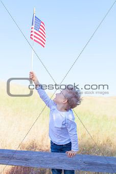 boy celebrating independence day