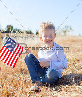 boy celebrating independence day