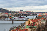 Prague panorama view from Vysehrad