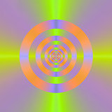 Psychedelic Cross Hair Target