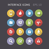 Flat Icons For Interface