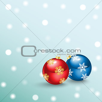 Christmas ball from snowflakes