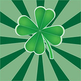 Four leaf clover,  for St. Patrick's day background