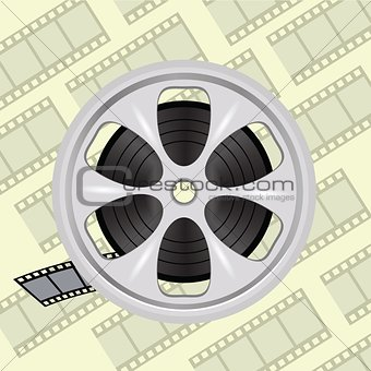 cinema film tape on disc