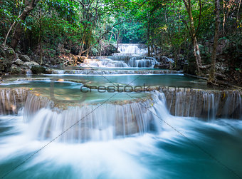 Beautiful Waterfall at Huay Mae Khamin