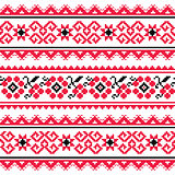 Ukrainian folk art embroidery pattern or print