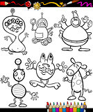 fantasy set cartoon coloring book