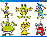 Cartoon Fantasy Characters Set