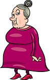 senior grandmother cartoon illustration