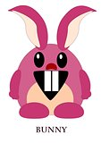 Pink cartoon bunny