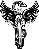 Winged Angel and Serpent