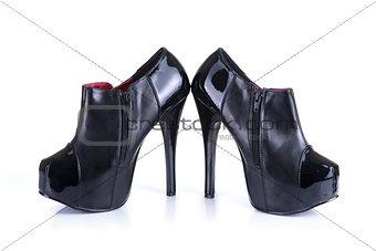 Pair of black classic female shoes