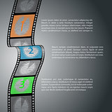 Countdown infographic design with film strip