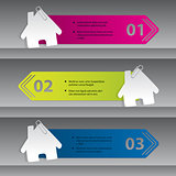 Infographic design with house labels