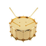Golden drum isolated
