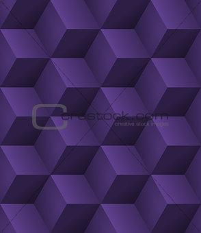3d purple cubes seamless