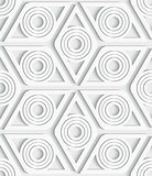 Geometrical rhombus seamless pattern cut out