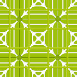 Green layered ornament seamless with grid
