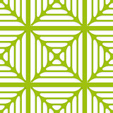 Green layered ornament seamless