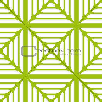 Green layered ornament seamless