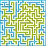 Maze blue and green