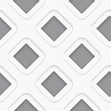 Seamless white diagonal double square