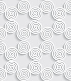 Spiral cut out white seamless background