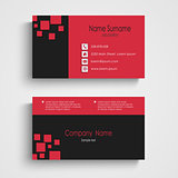 Modern sample business card template