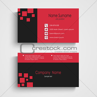 Modern sample business card template