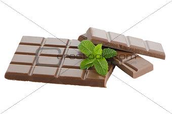 Closeup detail of chocolate