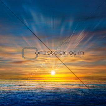 abstract background with clouds and sea sunrise